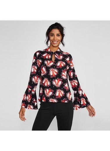 Vekem-Limited Edition İspanyol Kol Desenli Bluz Kırmızı